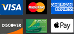 We accept Visa, MC, AMEX, Discover, CareCredit, Apple Pay
